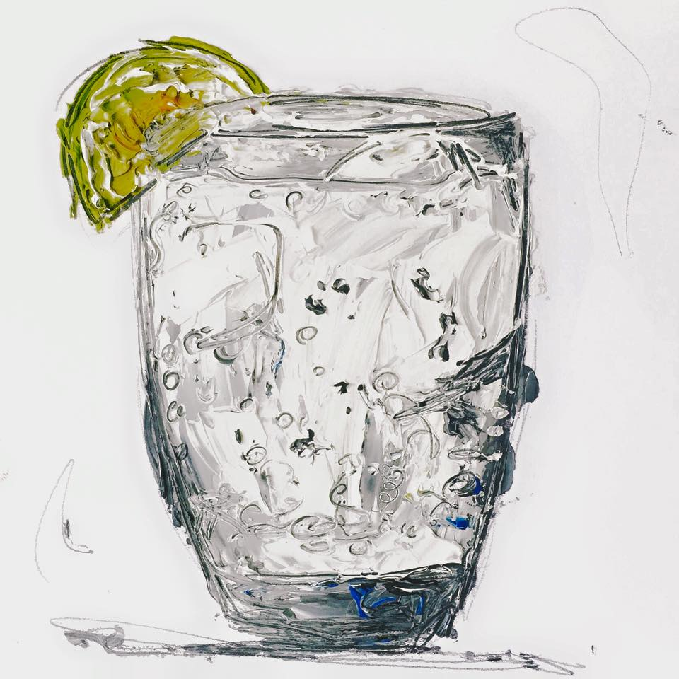 Gin Amp Tonic Art Print Aly Harte Ladies Favourite