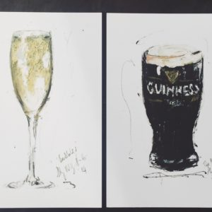 Belfast artist Aly Harte | Engagement gift idea | Postcard prints| Guinness | Prosecco