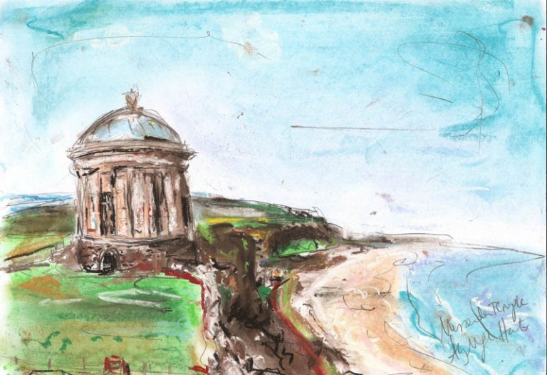 Mussenden-Temple.-Soft-pastel-on-paper.-A4.-£25-768x526