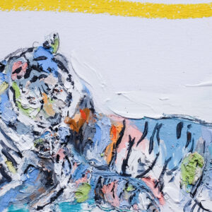 Abstract Tigress and Cub